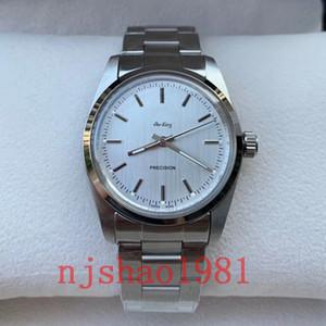 Qualité Meilleur Wristwatch 1965 ans 36mm Vintage Air King 2813 en acier inoxydable mécanique automatique Hommes Hommes Montres-bracelets