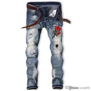 2019 Cross-border jeans for Europe and America n self-cultivation, foreign trade, explosive embroidery and quick sale of explosive men'