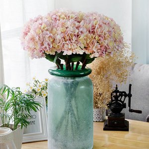 simulation de haute qualité Bouquet unique en soie artificielle fleur Hydrangea Peinture à l'huile Hydrangea Pour la maison Hôtel Décoration Fleur