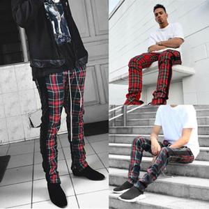 Hommes Pantalons Pantalons Survêtement Fitness Workout PLIAID Sweatpants PLUS SIZE Sport Pantalons simple de randonnée