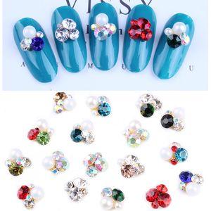 100pcs perle Heap strass alliage pour ongles Accessoires perle en alliage strass cristal Gem Nail Bijoux Cristal Nail Art Déco