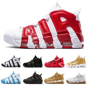2020 Nueva QS Olímpico 96 del equipo universitario de Maroon más zapatos de baloncesto del Mens 3M Scottie Pippen Uptempo Chicago entrenadores deportivos zapatillas de deporte Tamaño 41-46