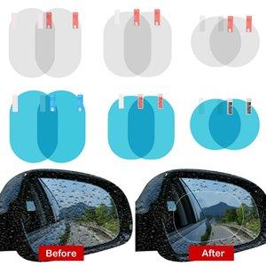 60PCS 0.12mm Car Rearview Mirror Window Clear Film Anti Fog Window Foils Rainproof Protective Car Sticker