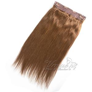 버진 인간의 머리카락 확장에 VMAE 말레이시아 브라운 금발 120g (12) 26 인치 기계 씨실 직선 헤일로 플립