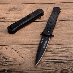 2018 الباردة الصلب الكربون التلقائي الطي أفضل سكين 8cr13mov بليد ألياف الكربون + الصلب مقبض سكين جيب التكتيكية السكاكين