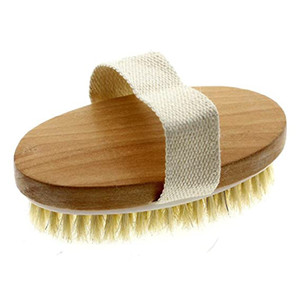 Body Brush Natural Bristle Remove Dead Skin and Toxins,Cellulite Treatment,Improves Lymphatic Functions,Exfoliates,Stimulates Blood