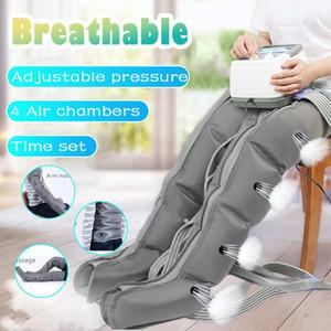4 Aire Cámaras terapia de compresión Massager de la vibración de infrarrojos de la pierna del brazo de la cintura neumática Aire Wraps Presión Massager Relax Dolor