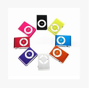 NEW Moda Mini clipe de metal Digital Sports MP3 Music Player Cabo USB com TF slot Preto Vermelho Prata Cores misturadas bom presente barato Xmas