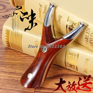 440 Stainless Steel Slingshot High Quality Solid Wood Recurve Flat Rubber Band Bow Accurate Outdoor Hunting Catapult