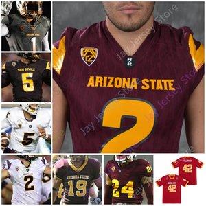 Costom Arizona State ASU Football américain universitaire Jersey Pat Terrell Suggs Tillman Jayden Daniels Benjamin Aiyuk Darby Lole Kearse-Thomas Harry