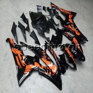 Gifts + Custom Mujer flor naranja YZFR6 08-12 ABS motocicleta carenado para Yamaha YZF-R6 2008 2009 2010 2011 2012