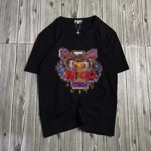 Nuove magliette del progettista uomini di marca estate Maglietta donna di lusso della testa della tigre di lusso del Mens Top T casuali alta Quility tessuto Streetwear 2042910H