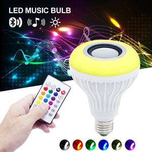 Heiße Verkäufe drahtlose 12W Energie E27 LED rgb Bluetooth Lautsprecher Birnen Licht Lampe Musik, die RGB-Beleuchtung mit geführten Fernsteuerungslichtern spielt