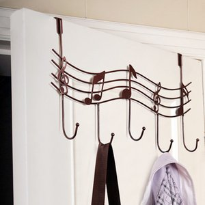 NEW Stylish Hot Selling Door Back Metal Notes Wall Hooks Kitchen Bathroom Organizer Hanger Hooks With 5-Hook