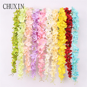 60cm Artificial silk hydrangea rattan Home hotel wedding ceiling hanging vine Flower wall arch decorative fake flower string