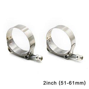 Cnspeed 2 51mm -61mm Turbo del silicone tubo accoppiatore T Bolt Super Clamp Kit tubi di scarico Turbo Pluviale Fascette scarico