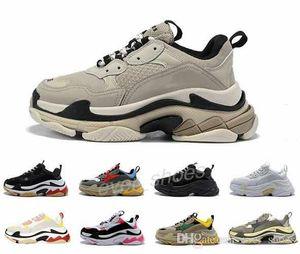 New Triple S Designer Paris 17FW Low Old Dad platform Sneakers Black White Combination Soles Boots Men Women Fashion Casual Shoes 36-45