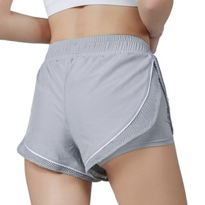 New Two-piece Mesh Breathing Fashion Sports Shorts Outdoor Fitness Sports Yoga Shorts for Women