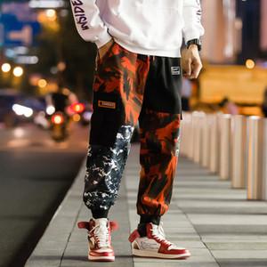 2019 Men's harajuku cargo pants hip hop camouflage harem pants men camo trousers plus size joggers streetwear male 5XL CK26