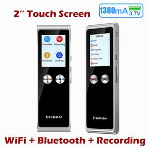 2020 Hot Sale portátil Tradutor inteligente WiFi com tradução Screen Two-way em 70 idiomas de apresentação de texto Mini tradução