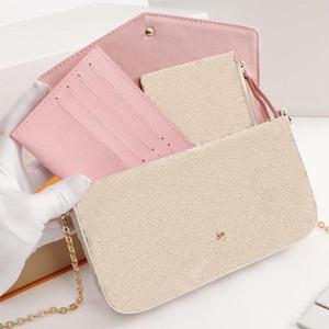 Trois pièces dans le jeu Mode casual sacs à main de femmes portefeuille Lettre Designer Sacs à bandoulière nouveaux sacs pour les femmes Taille 21/11/2 cm Modèle M61276