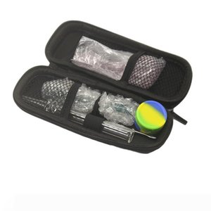 Wax Oil 6 In 1 Pyrex Oil Burner Pipe Set With Spoon Hand Pipe Pipes Silicone Jar Dabber Tool Dab Rigs Smoking Accessory