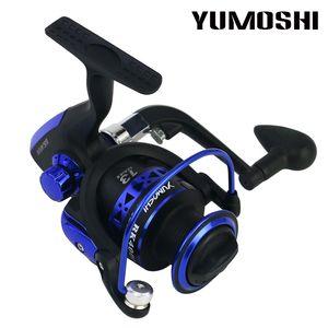 Carrete de pesca de marca YUMOSHI Carrete giratorio de carrete de metal para pesca de mar Carpa Rod Combo + Rod