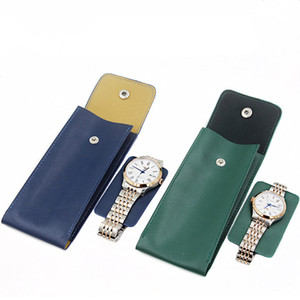 High Quality PU Leather watch Protect Bag New Style Lovers' Watch Storage Bags Green Leather Brand Mechanical Travel Bag
