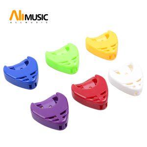 10 Ad Çok Renkli Gitar Plectrum Kalp Shape gitar gitar seçim vaka MU1326, Holder seç