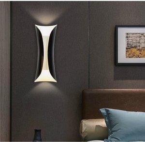 Modern alüminyum boru duvar lambası sanat led duvar lambası aplik ev oturma odası yatak odası yanında fikstür wa032