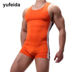 Uomini sexy intime Body Body tute pezzo costumi da bagno costume da bagno SINGLET pugili della biancheria intima U convesso Pouch