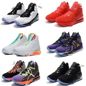 Alta calidad James Lo que el XVII 17 zapatos de baloncesto LeBron 17s Media Day Palmer Fruity Pebbles Red Carpet Niños Mujeres Hombres zapatillas de deporte EUR34-46