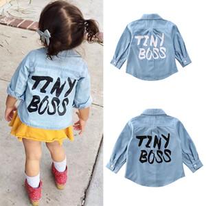 Children Outerwear Fashion Newborn Kid Baby Girl Tiny Boss Shirts Tops Clothes Denim Long Sleeve Coat Shirt 2-7 Years