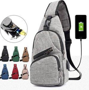 Hommes USB poitrine Sacs épaule pack USB de charge Port Sport épaule Moblie Téléphone Crossbody charge Sac à main Enfants Adultes KKA7919