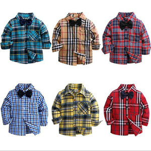 Toddler Kids Baby Boy top Clothes Long Sleeve Plaid Tops Cotton shirt Blouse Streetwear outfits 2-7T Blouse Casual