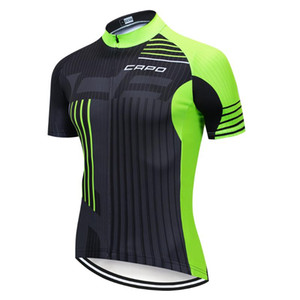 2019 CAPO Men's Pro Cycling Jersey Bike Short Sleeve Ropa Ciclismo Clothing Bicycle Sportwear Shirt Cycling Clothing
