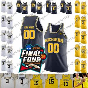 Personalizzate Michigan Wolverines # 0 David DeJulius 5 Adrien Nunez 21 Franz Wagner 23 Brandon Johns Jr. Uomini Gioventù Kid pallacanestro Jersey 4XL