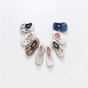 Baby Socks With Rubber Soles Cartoon baby shoes Infant Sock steps Anti-slip Leather kids Floor Socks slippers