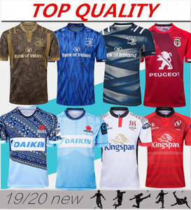 Top calidad 2019 2020 Munster city Rugby jerseys 19/20 Ulster Leinster hombres Rugby jersey Tropic Toulouse Rugby jersey tamaño S-3XL