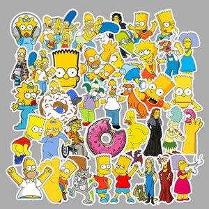 2016 Lot Funny Anime Cartoon Simpsons Graffiti Stickers For Moto Car Suitcase Cool Laptop Stickers Skateboard Kids Stickers Lot mmj2010 CGPp