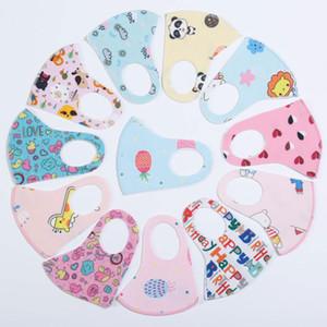 PM2.5 Çocuk Anti-kirlilik Maskeler Soğuk Erkekler Kızlar Karikatür Ağız Yüz Maskeleri Çocuklar Karşıtı Toz Nefes earloop Yıkanabilir Yeniden kullanılabilir Pamuk Maskesi
