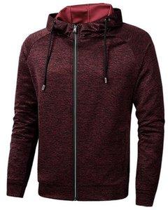 Running Cardigan Slim Mens Sports Hoodies Spring Fitness Long Sleeve Hooded Solid Color Mens Sweatshirts With Zipper