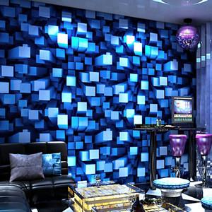 5D PVC fondo de pantalla estéreo 3D flash de KTV bar de baile de lujo caja de sala de habitación de tema del papel pintado del techo manera de la personalidad