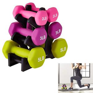 Palestra Dumbbell Rack Stand Holder pesi con manubri Sollevamento pesi Piano staffa domestica di esercitazione Accessori