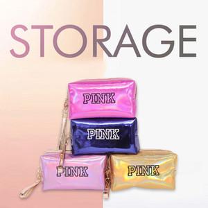 INS Top vendendo coleção e acabamento saco de make-up com tecido PU em 5 cores viajar saco de lavagem