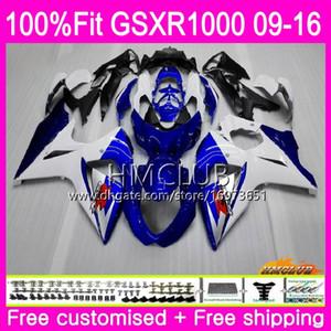 K9 Für SUZUKI GSX-R1000 GSXR 1000 09 10 11 12 13 15 16 13HM.1 GSX R1000 GSXR1000 2009 2010 2011 2012 2014 2015 2016 Lagerblau Verkaufsverkleidung