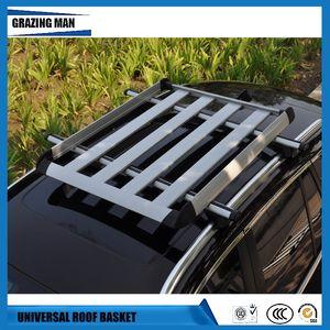 Capítulo libera el envío azotea del coche de aleación de aluminio al portaequipajes de equipaje de la barra cruzada barras de techo Rieles caja cesta Universal Box