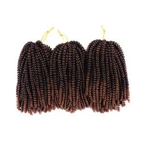8inch Crochet Braids Spring Twists Kanekalon Synthetic Flechten Haarverlängerungen