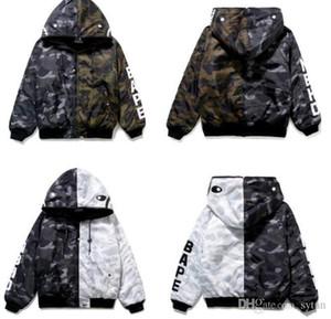 Оптовые новые мужские черный белый камуфляж сплайс цвет толстая полиэстер куртка подростка черный зеленый камуфляж кардиган молния куртка