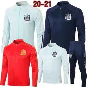 2020 RAMOS Tracksuits Spain Soccer Jersey Set 20 21 Football Jacket Pants ASENSIO MORATA ISCO SILVA PIQUE SERGIO SAUL THIAGO Training Suit